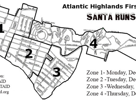 THE ATLANTIC HIGHLANDS FIRST AID & SAFETY SQUAD ANNUAL SANTA RUNS AND FOOD DRIVE SET TO TAKE OF