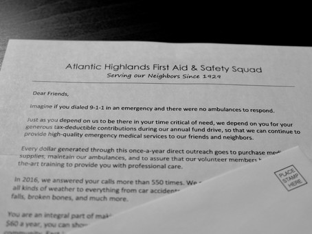 ATLANTIC HIGHLANDS FIRST AID & SAFETY SQUAD ADDS DIGITAL OPTION FOR ANNUAL FUND DRIVE