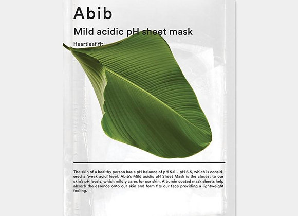 Abib Mild acidic pH sheet mask Heartleaf Fit  30ml x 1ea