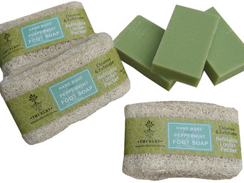Thurlby Herb Farm - Loofah Peppermint Foot Soap