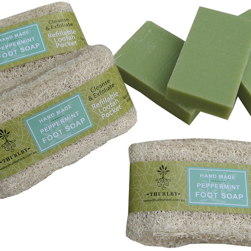 peppermint-foot-soap-loofah