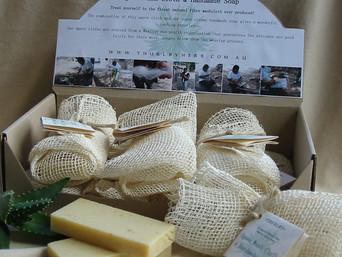 Thurlby Herb Farm - Agave Wash Cloth with Handmade Soap
