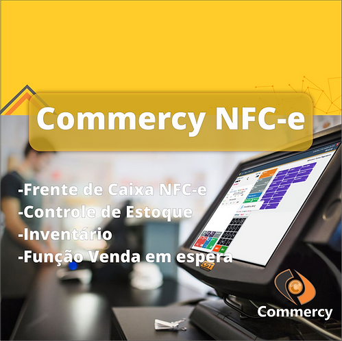 Software Commercy NFCe (Plano Mensal)