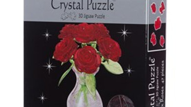 Crystal Puzzle Six Roses Red 3D 47 pieces