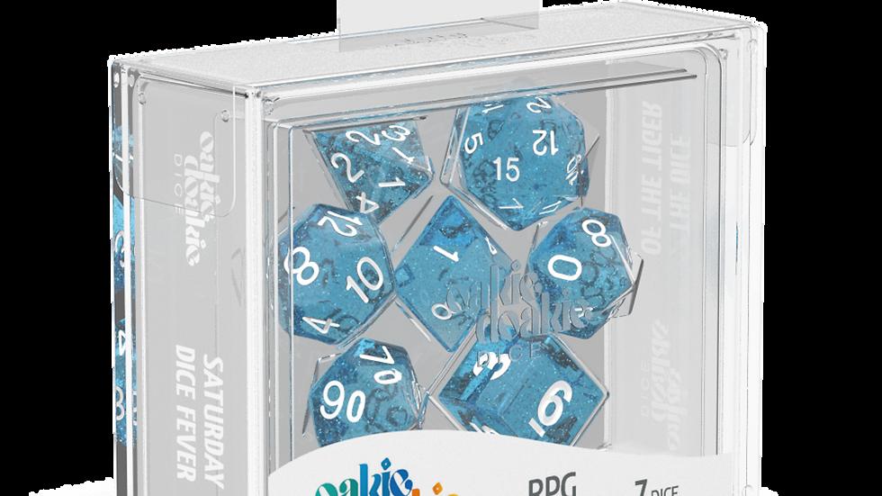 Oakie Doakie Dice RPG Set Speckled - Light Blue 7