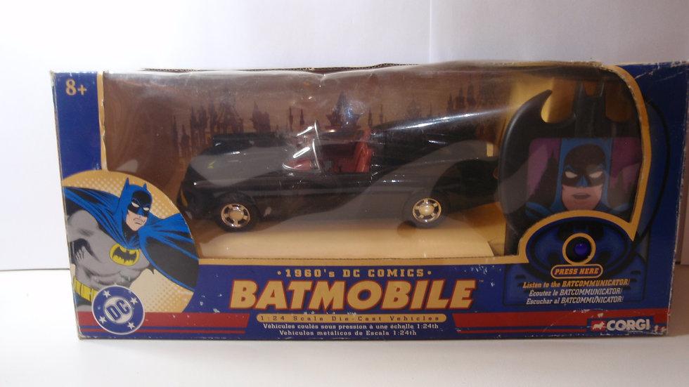 DC comics 1960's Batmobile with working Batcommunicator