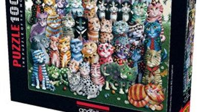 Puzzle 1000 piece Cat Family Reunion