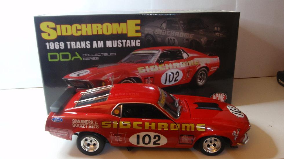 1:18 1969 Trans Am Mustang Sidchrome 102