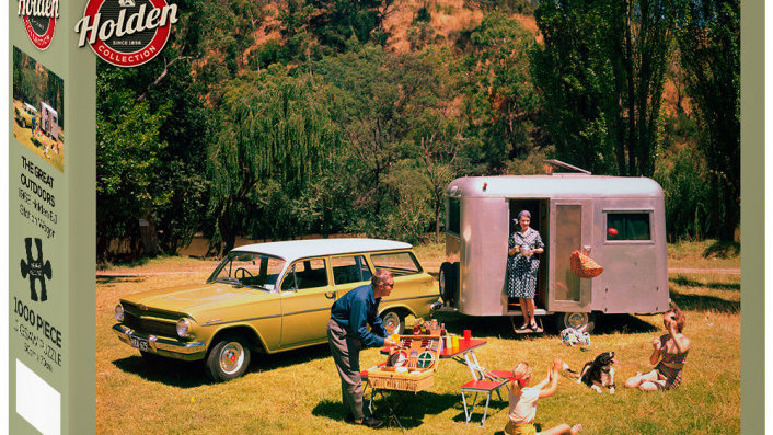 Puzzle 1000 pieces Holden Caravan The Great Outdoors