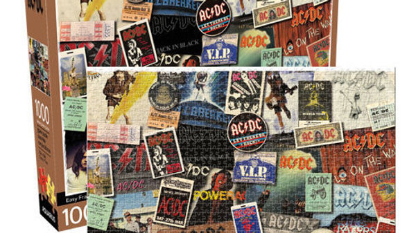 Puzzle 1000 pieces Aquarius Puzzle AC DC Albums