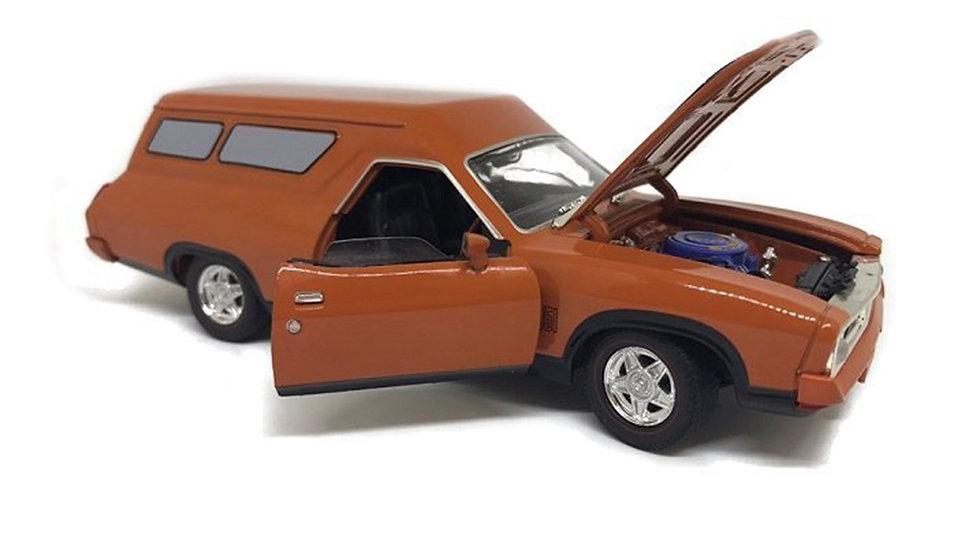 Oz Legends 1/32 Burnt Orange XB GT Ford Falcon Panelvan - CT32851B Diecast Car