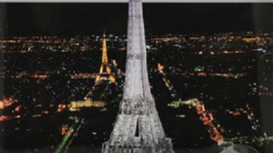 Crystal Puzzle 3D Eiffel Tower Black 96 pieces