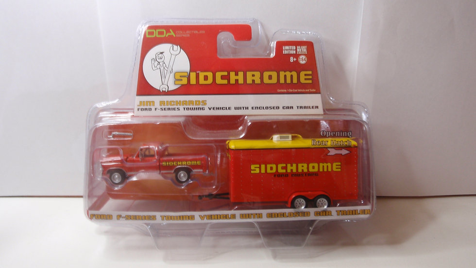 1:64 Jim Richards Ford F series towing vehicle with enclosed trailer
