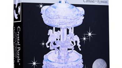 Crystal Puzzle 3D Grey Carousel 83 pieces