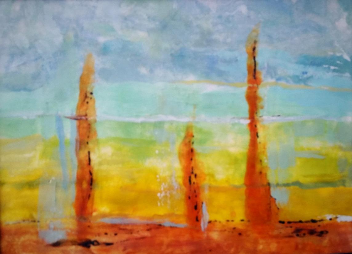Sunrise Stalagmites