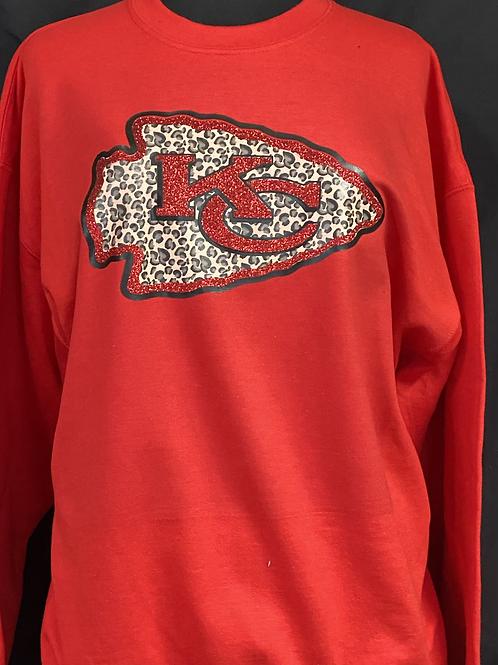 Glitter / Cheetah KC Chiefs Arrowhead