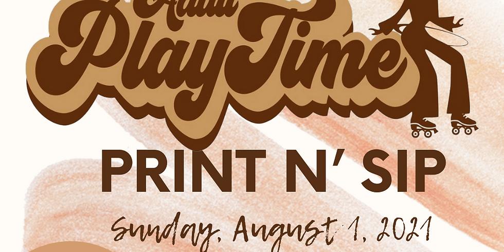 Adult PlayTime Print N' Sip