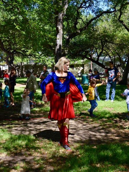 Birthday show with Superwoman