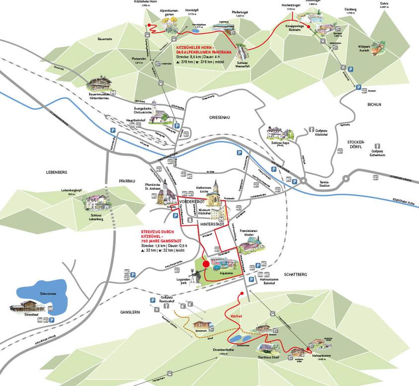 Kitzbühel Detailkarte