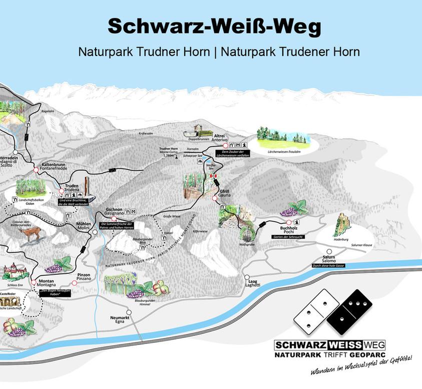 Schwarz-Weiß-Weg