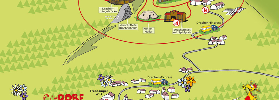 Drachenwandermeile Trebesing Detailkarte