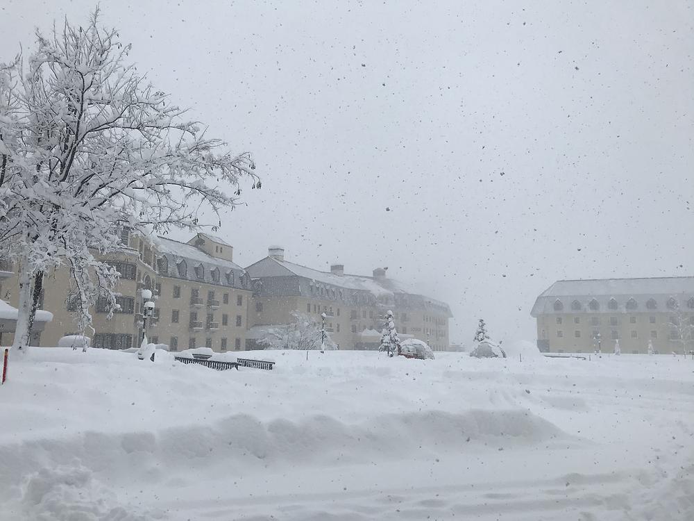 日中だけで2〜30センチほどの積雪