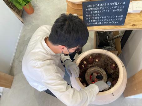 "MYOKO COFFEE北新井店にて""壺""焼き芋店イモンテとのポップアップコラボ"