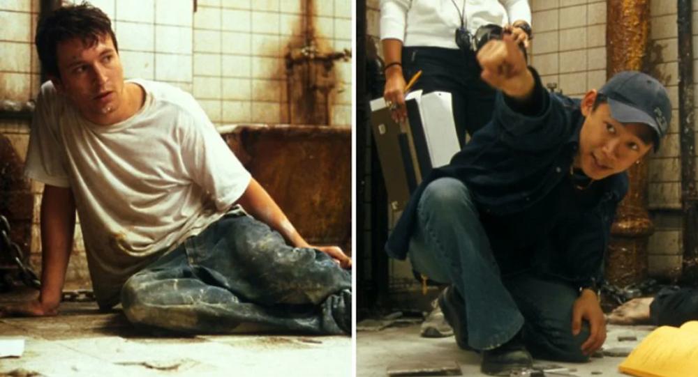 "Leigh Whannell e James Wan em ""Saw"""