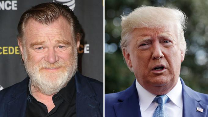 Brendan Gleeson e Donald Trump.
