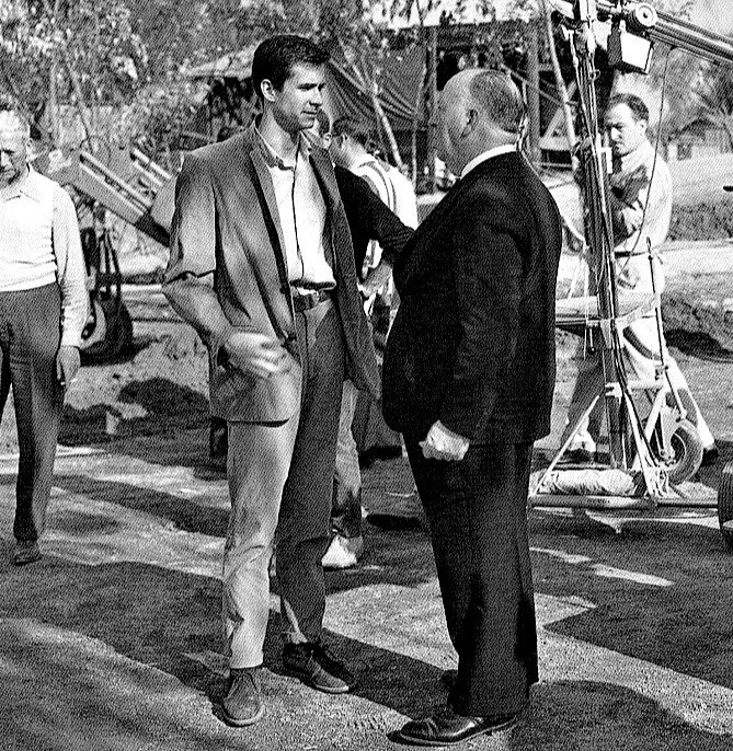 Alfred Hitchcock e Anthony Perkins