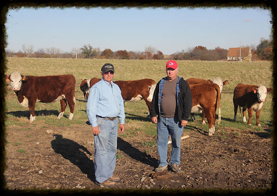 Phillip and Danny Thomas at Thomas Family Herefords.