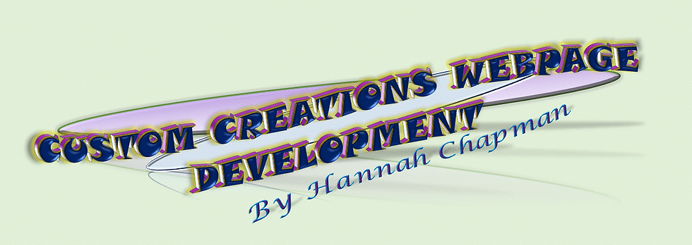 Hannah Chapman at Custom Creations Webpage Development. If interested please contact and well see what we can work out.