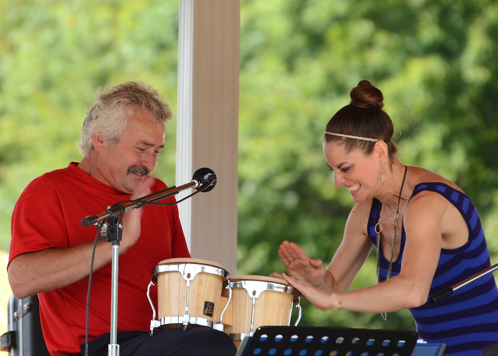 Walt and Jackie performance with bongos