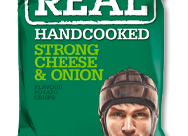 Strong Cheese & Onion Real Crisps 24 x 35g