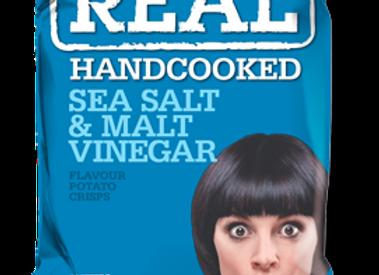 Sea Salt & Malt Vinegar Real Crisps 24 x 35g