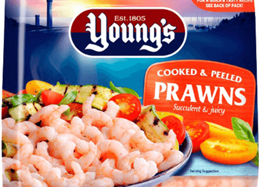 Youngs Prawns Cooked & Peeled 180g