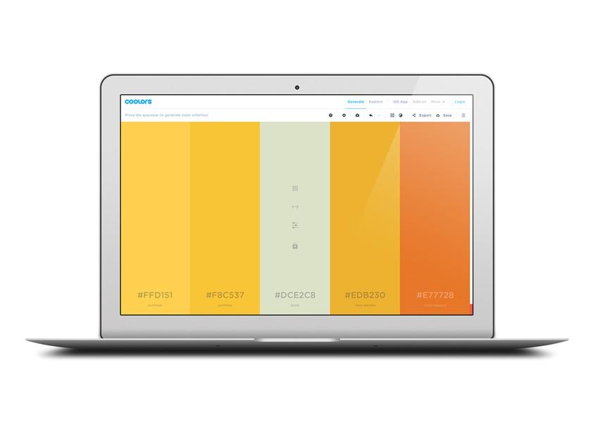 Coolors créez vos palettes de couleurs - Graphiste à Nîmes, Montpellier, Alès et Arles.