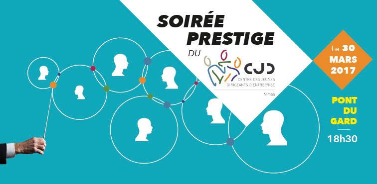 Soirée prestige du CJD au pont du Gard - Réalisation de l'affiche