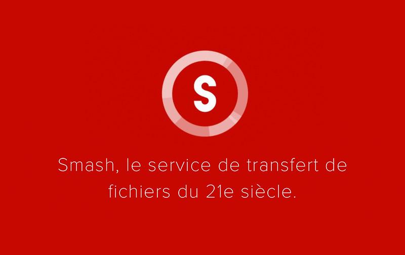 Smash, le partage de fichiers du 21e siècle ! Graphiste Nimes, Montpellier et Ales.