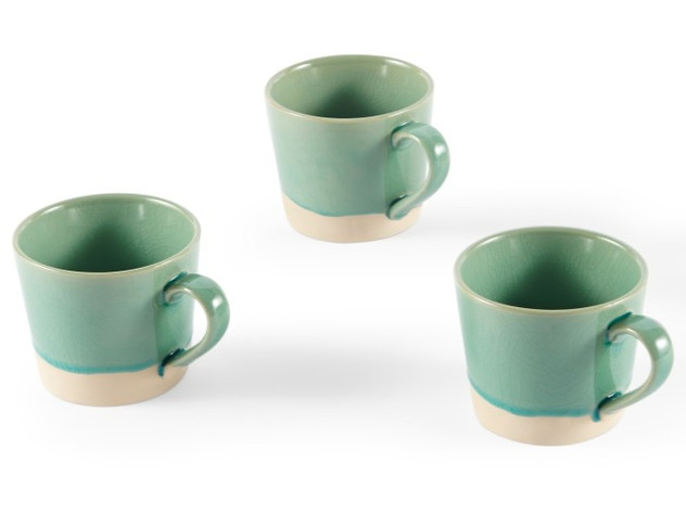 Crackle Glaze Set of 4 Mugs