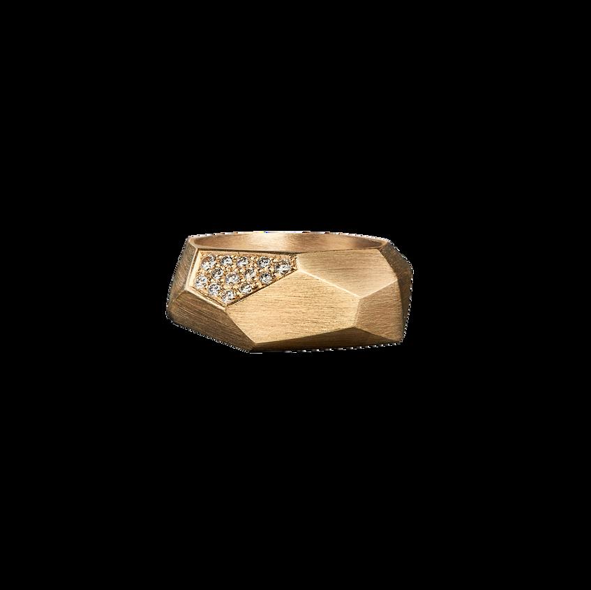 Diamond facet ring
