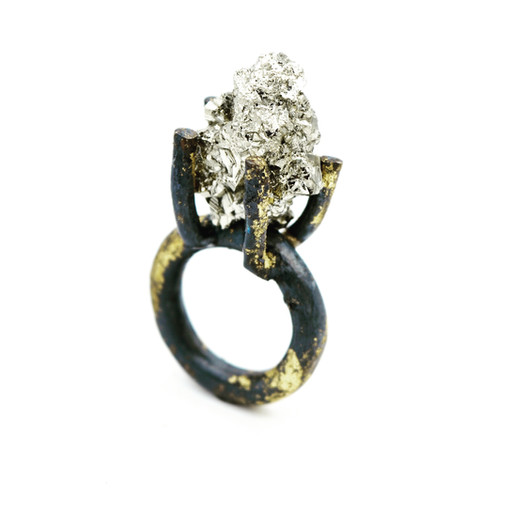 GOLD PYRITE RING