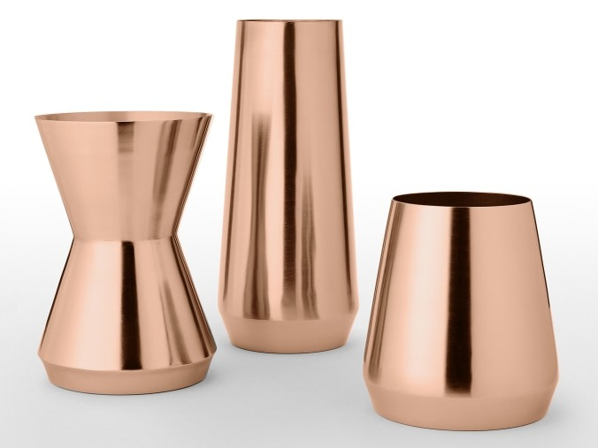 Large Tapered Vase in Copper