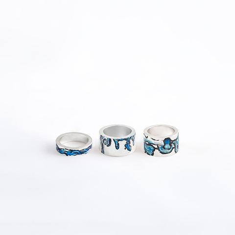 WATERCOLOUR THIN RINGS