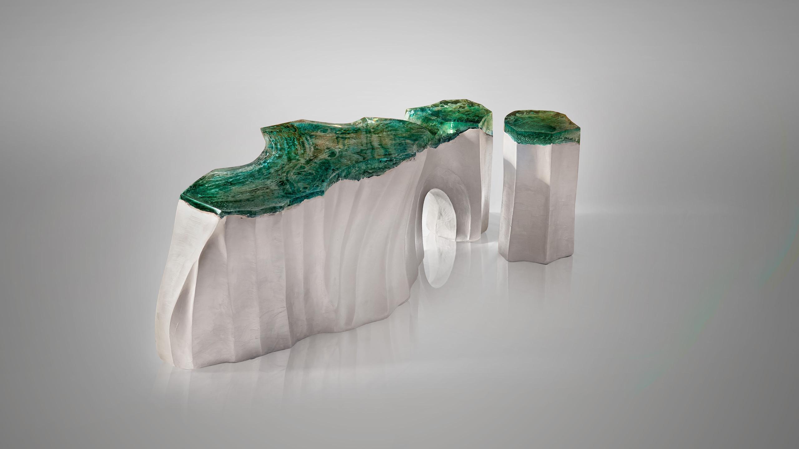 La Falaise Bench & Side Table