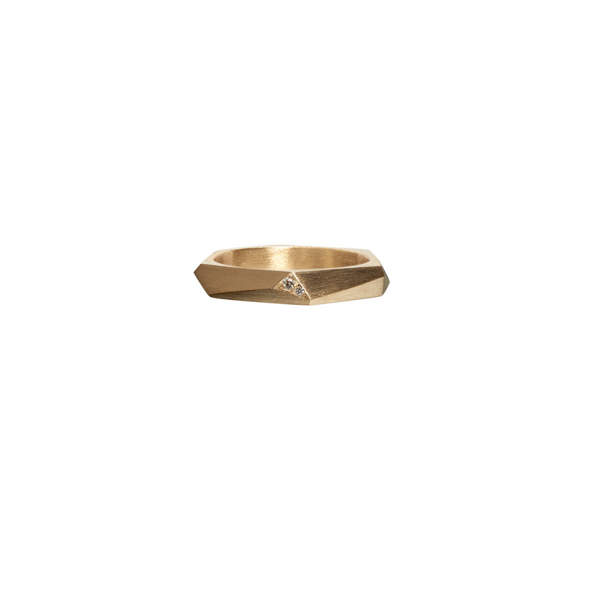 Thin Facet ring