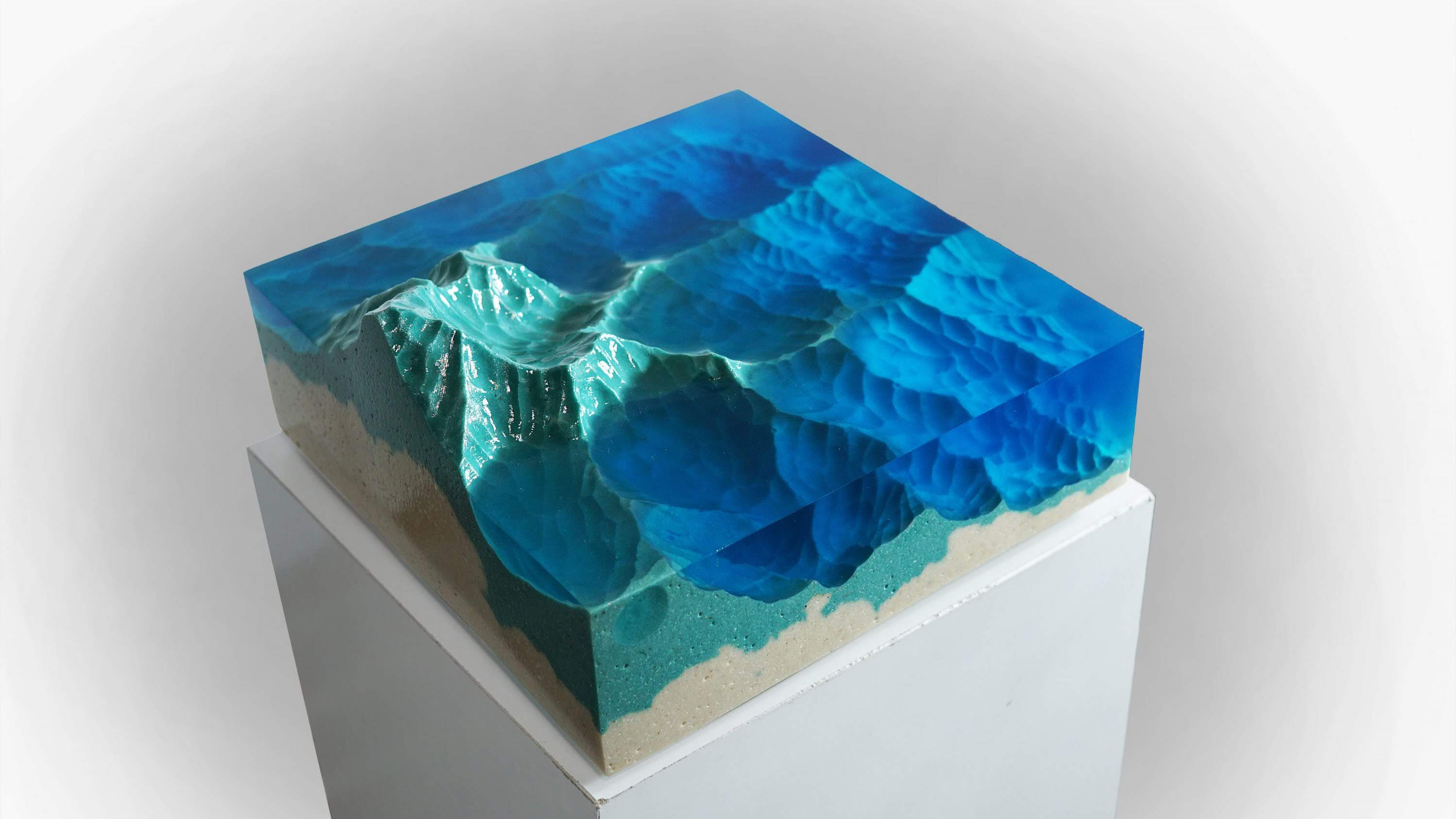 Mountains: Slice of Land Sculpture