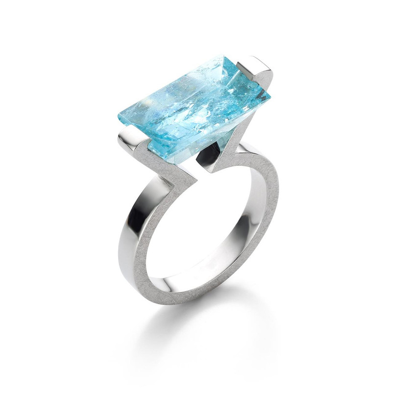 Ophelia's dream ring silver aquamarine