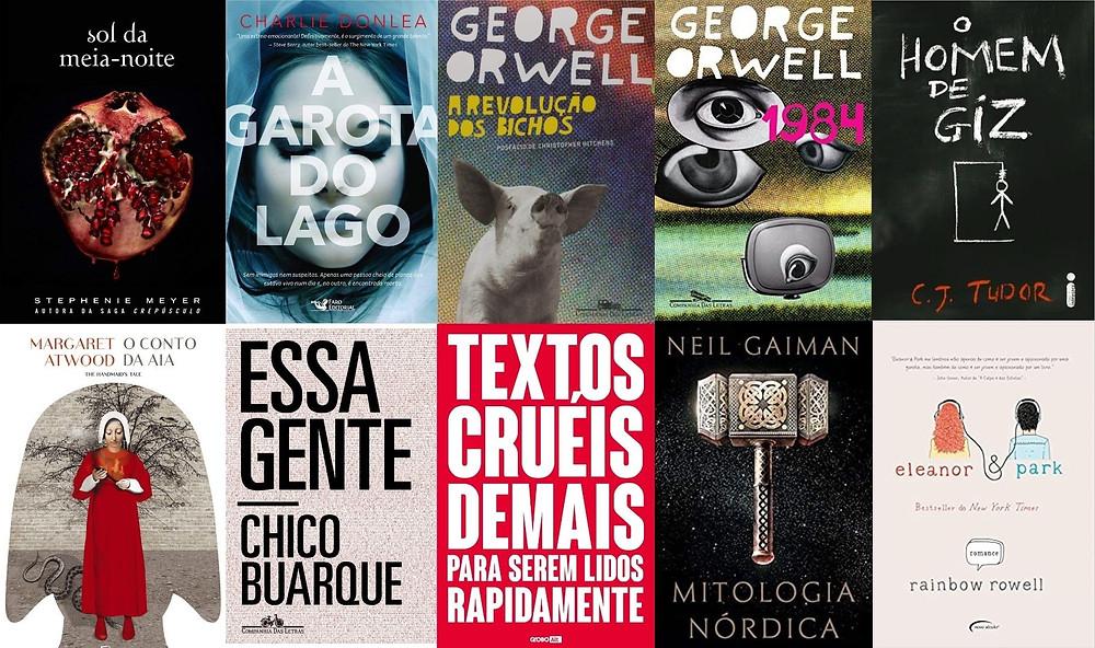 Mercado Editorial: livros de ficção mais vendidos no Brasil em 2020