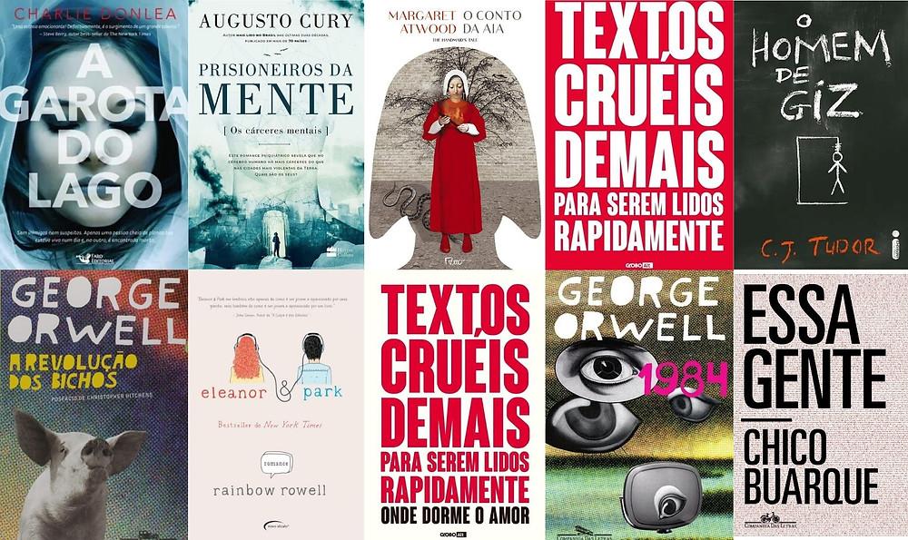 Lista dos dez livros de ficção mais vendidos no Brasil em 2019